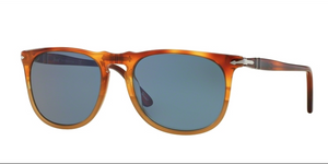 Persol Sunglasses PO3113S 102556 54 mm Resina E Sale Havana Brown Crystal Light Blue unisex