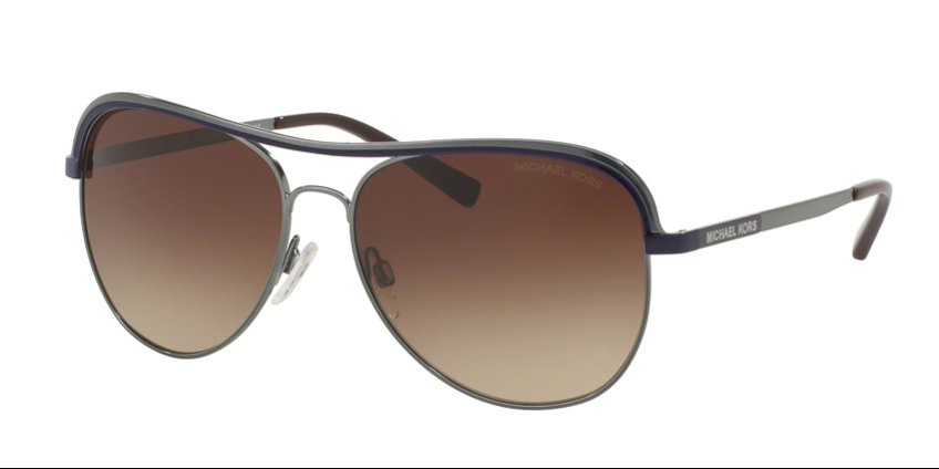 Michael Kors Aviator VIVIANNA I MK1012 113313 58 Gunmetal Purple Smoke Gradient