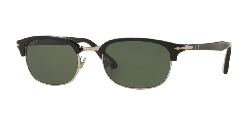 Persol Sunglasses PO8139S 95 58 52 mm Black Crystal Green Polarized unisex