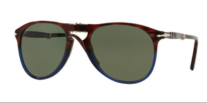 Persol Sunglasses PO9714S 102331 52 mm Fuoco E Ardesia Tortoise Brown Grey  unisex