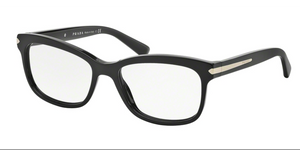 Prada PR 10RV 1AB1O1 55 Black Square Eyeglasses