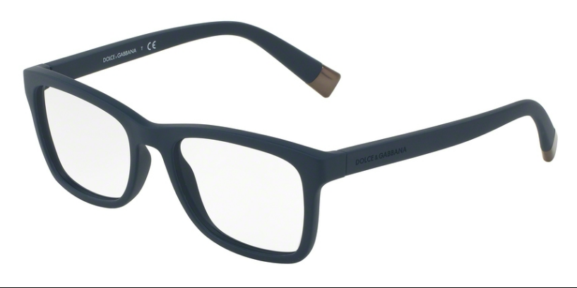 Dolce & Gabbana DG5019 3031 52 Matte Night Blue Mens Plastic Square Classic Wayfarer 52mm Eyeglasses