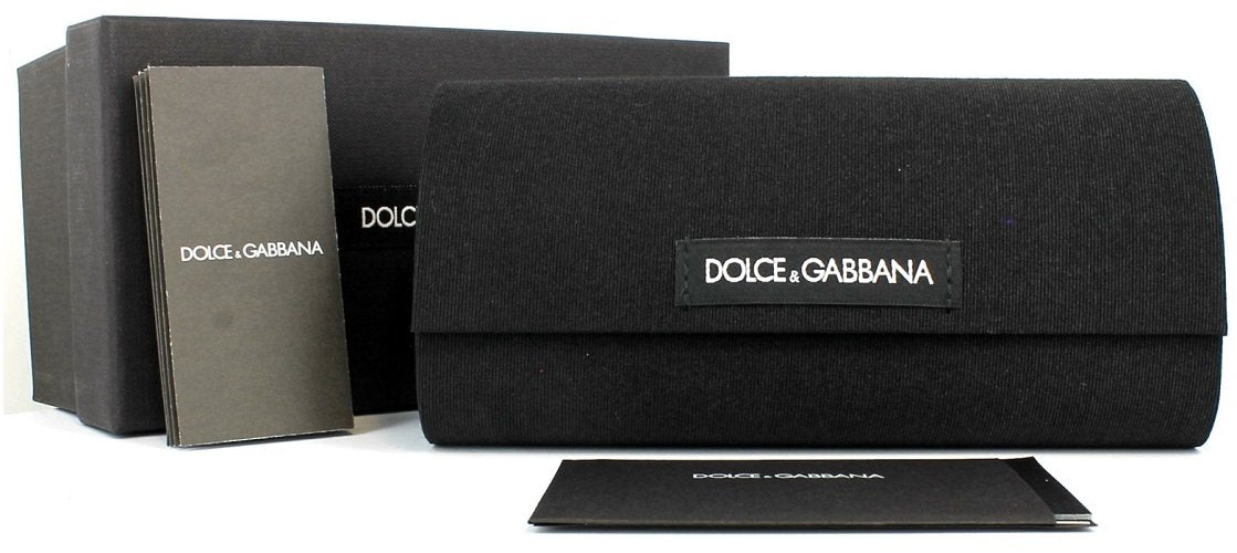 a4aaccc39ed7 ... Carrying case and Brand Paperwork for Dolce   Gabbana Eyeglasses - ALMOND  FLOWERS CATWALK CAT EYE