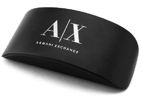 Carrying Case, Cleaning Cloth, Box, and Brand Paperwork for Armani Exchange Men's Sunglasses - TRANSPARENT MAGNET LIGHT GREY MIRROR BLACK Pillow AX4070S 82396G 57