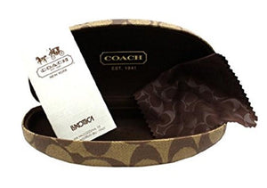 Carrying case and Brand Paperwork for Coach Eyeglasses - CECILY MADISON HC5027B 9094 52 DARK BROWN HAVANA TORTOISE CRYSTAL CLEAR DEMO LENS Women's Rectangle Semi Rim