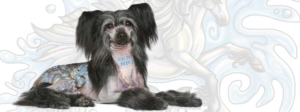 Chinese Crested tattoo dog
