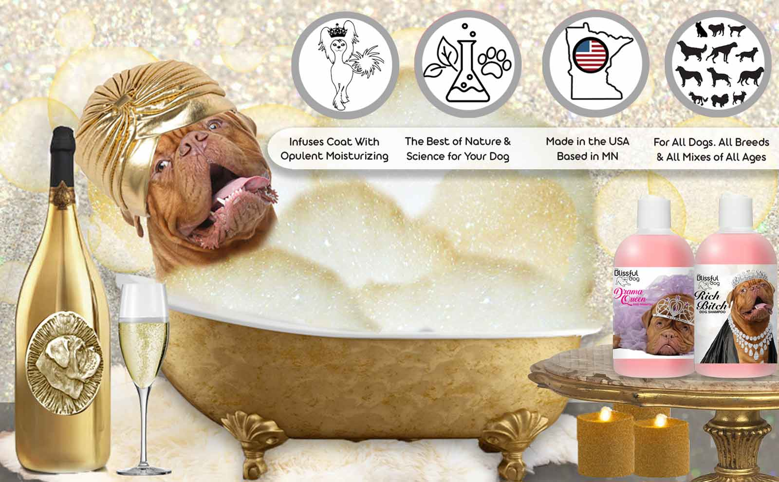 Dogue de Bordeaux bathtub