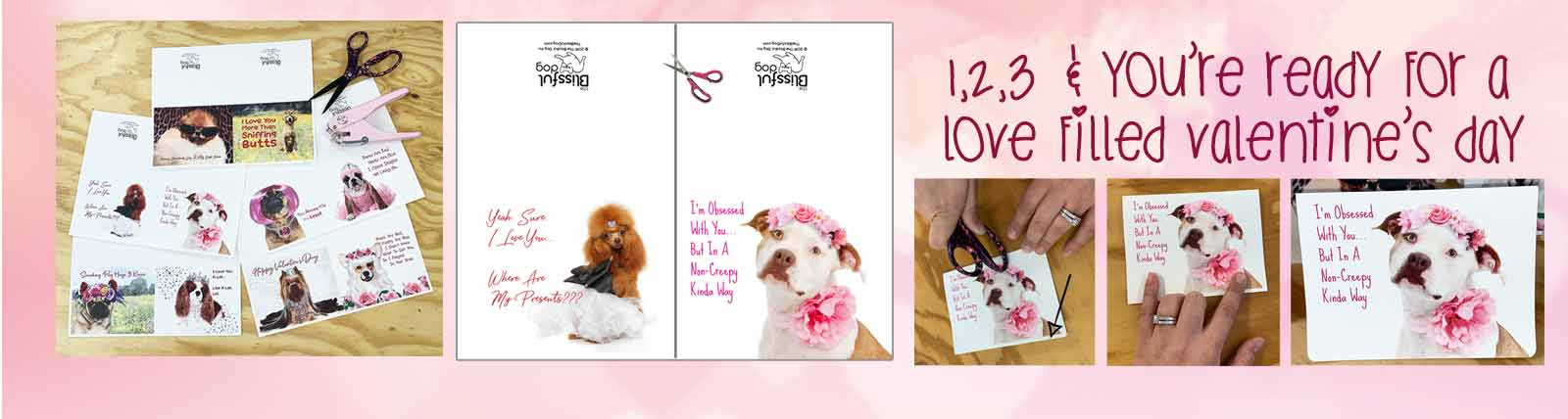 creating dog valentine's day cards