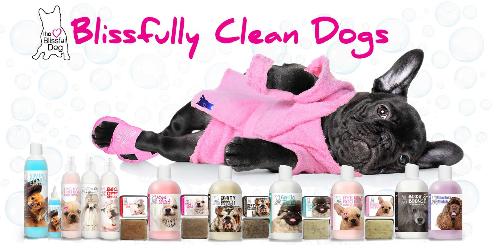 Blissfully Clean Dogs product line
