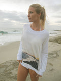 """Black Sand Beach"" Sand Sweatshirt by Ash Francomb"