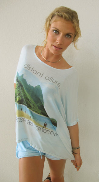 """Distant Allure"" Cloud Tee in Ocean by Ash Francomb"