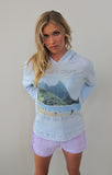 """Distant Allure"" Hoody Sweatshirt in Ocean by Ash Francomb"