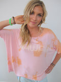 """Hawaii"" Dip Dye Sunset Cloud Tee by Ash Francomb"