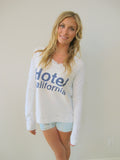 """Hotel California"" Long Sleeve Crew Neck Sweatshirt in Sand by Ash Francomb"