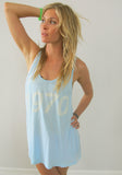 """1970"" Racerback Tank in Pacific Blue by Ash Francomb"