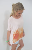 """Wahine 1970"" Cloud Tee in Plumeria by Ash Francomb"