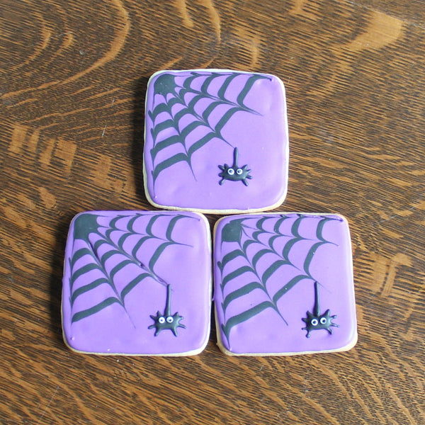 Purple Spiders Web Sugar Cookies