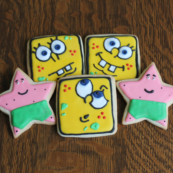 Spongbob and Patrick cookies