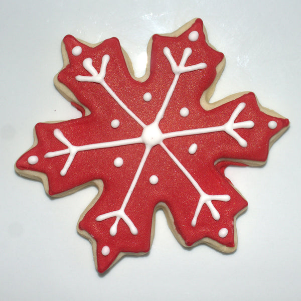 Red Snowflake Sugar Cookies