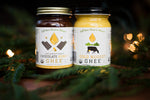 Jar of Chocolate Honey Ghee and Jar of Original Ghee by Gold Nugget Ghee