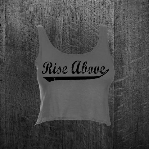 """BASEBALL RISE ABOVE"" Crop Tank Top"