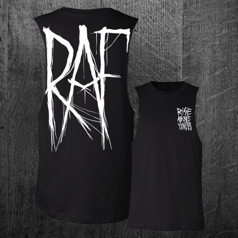 """BLACKMETAL"" Custom Cut Muscle Tee"