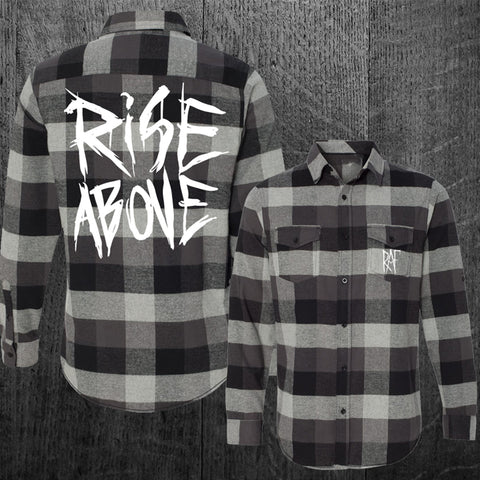 """BLACKMETAL RISE ABOVE"" Flannel"