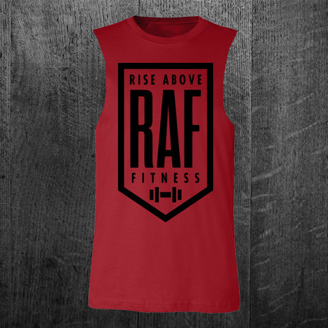 """CLASSIC RAF BADGE"" Custom Cut Men's Muscle Tank"