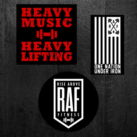 """HEAVY MUSIC - ONE NATION - BADGE"" Sticker Pack"