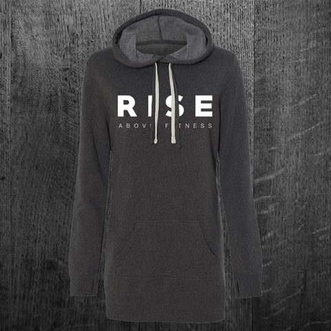 """CLASSIC RISE"" Pullover Hoodie Dress"