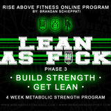 """LEAN AS FCK Phase 3"" Online Program"