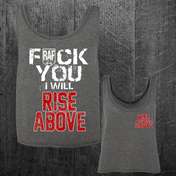 """I WILL RISE ABOVE"" Boxy Tank"