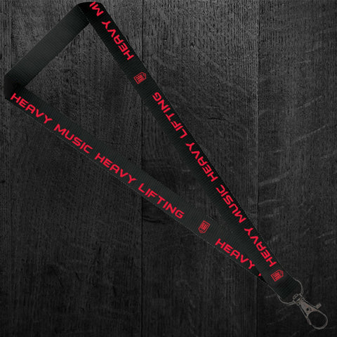 """HEAVY MUSIC HEAVY LIFTING"" Lanyard"