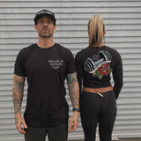 """IRON NEVER LIES"" Custom Cut Muscle Tee"