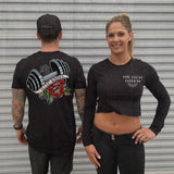 """IRON NEVER LIES"" Women's Custom Cut Long Sleeve Crop"
