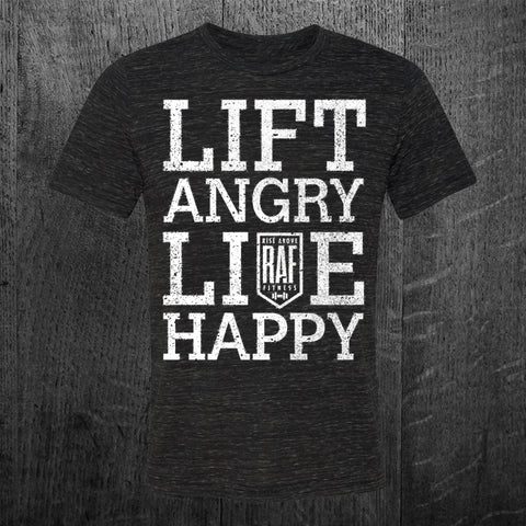 """LIFT ANGRY LIVE HAPPY"" Tee"