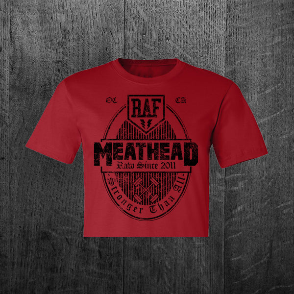 """MEATHEAD"" Women's Custom Cut Crop Tee"