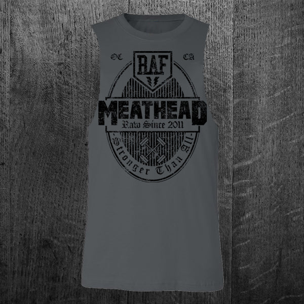 """MEATHEAD"" Custom Cut Muscle Tee"