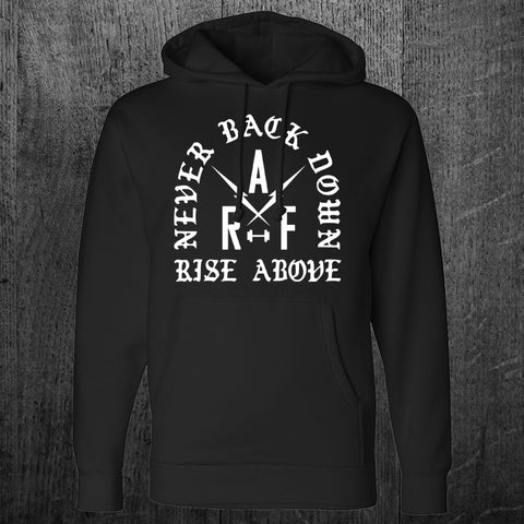 """NEVER BACK DOWN"" Pullover Hoodie"