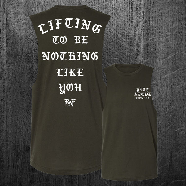 """NOTHING LIKE YOU"" Custom Cut Muscle Tee"