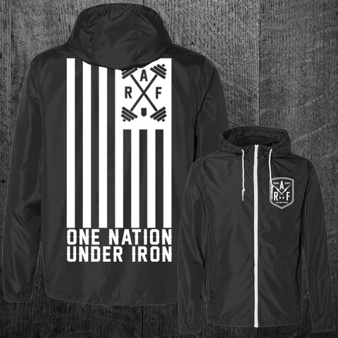 """ONE NATION UNDER IRON"" Windbreaker Jacket"