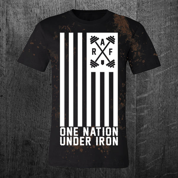 """ONE NATION UNDER IRON"" Grunge Tee"
