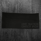 """ONE NATION UNDER IRON"" Headband"