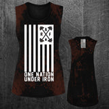 """ONE NATION UNDER IRON"" Grunge Muscle Tee"