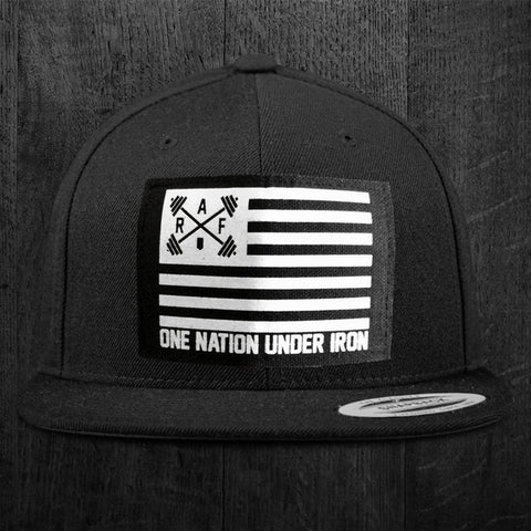 """ONE NATION UNDER IRON"" Snapback Hat"