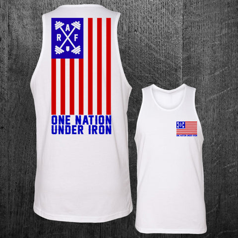 "LIMITED ""ONE NATION UNDER IRON"" Unisex Tank"
