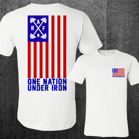 "LIMITED ""ONE NATION UNDER IRON"" Unisex Tee"