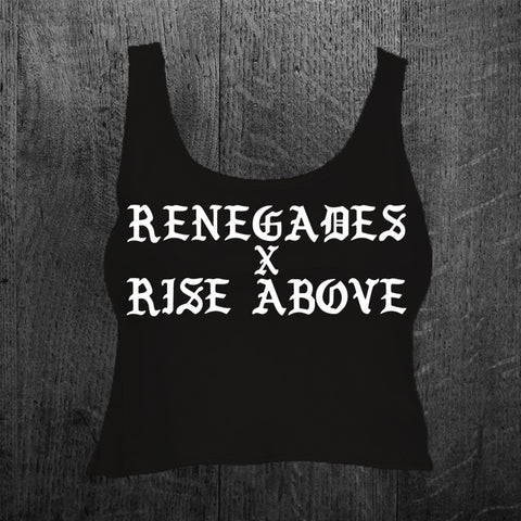 """RENEGADES X RISE ABOVE"" Crop Tank Top"