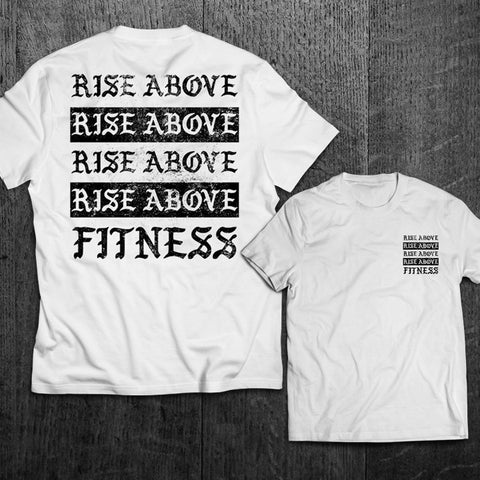 """RISE ABOVE FITNESS"" Tee"