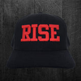"Kids Black ""RISE"" Snapback Hat"